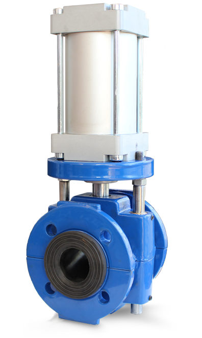 air operated double acting pinch valve model : APVED01 & APVED02 پینچ ولو بدنه بسته مجهز به عملگر نیوماتیکی
